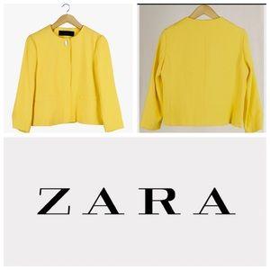 Zara sunshine yellow 💛 blazer / jacket XS